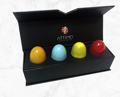Box Set mit 4 Pralinen | ATTIMO