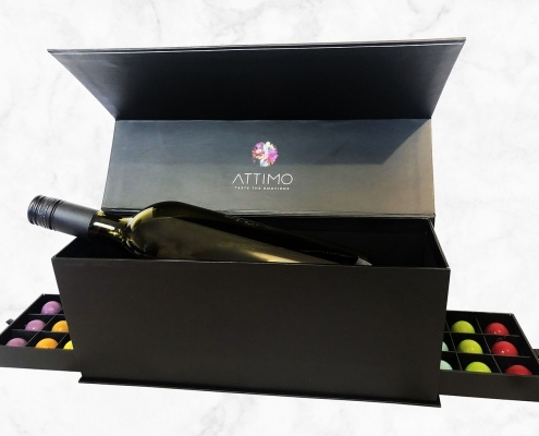 Wein Box Set mit Grand Cru Pralinen | ATTIMO